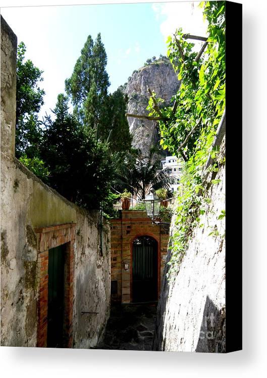Amalfi Canvas Print featuring the photograph Walking Along The Amalfi Coast 5 by Tanya Searcy