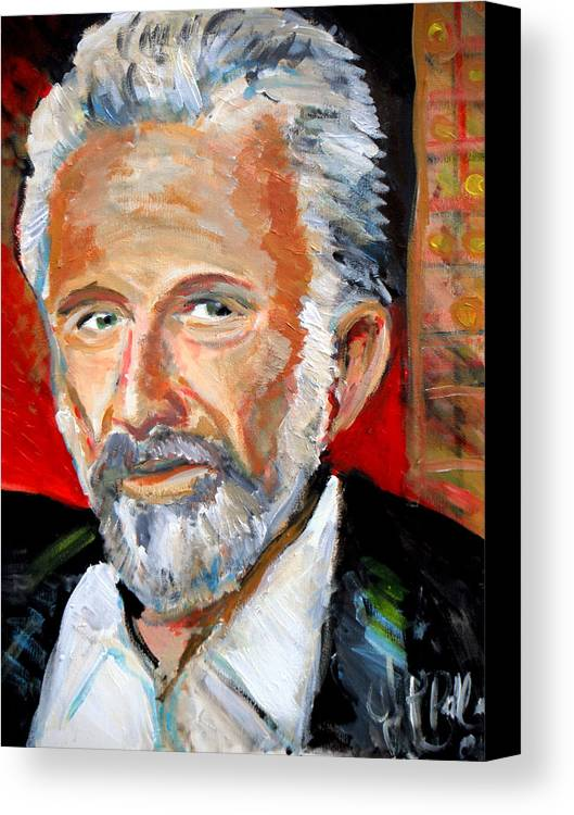 Most Interesting Man In The World Canvas Print featuring the painting  The Most Interesting Man In The World by Jon Baldwin Art