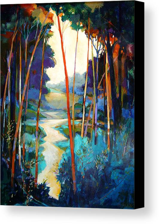 Landscape Canvas Print featuring the painting Waterpath by Dale Witherow