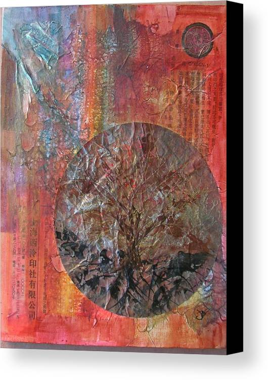 Abstract Canvas Print featuring the painting Global Series 3 by John Vandebrooke