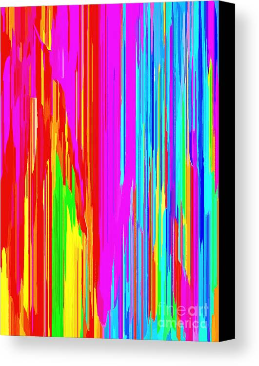 Abstract Art Canvas Print Featuring The Digital Art Living Color By Krissy  Katsimbras