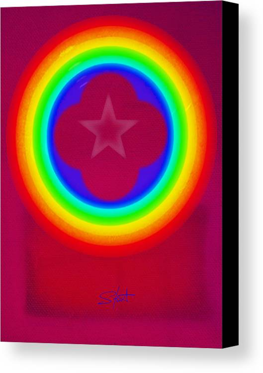 Abstract Canvas Print featuring the painting Logo by Charles Stuart