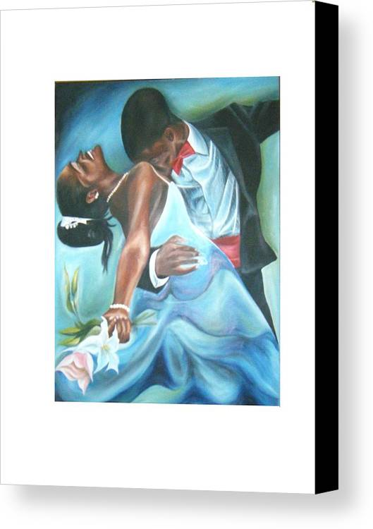 Beautiful Canvas Print featuring the painting Love Dance by Olaoluwa Smith