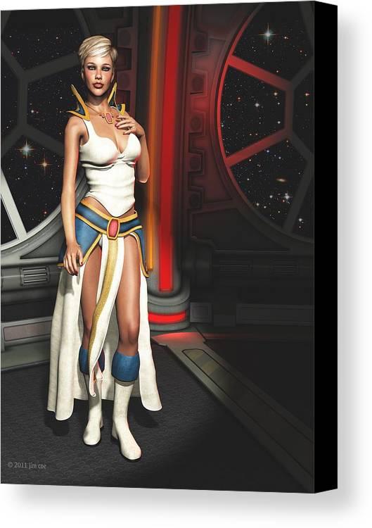 Science Fiction Canvas Print featuring the digital art Meet Vani by Jim Coe