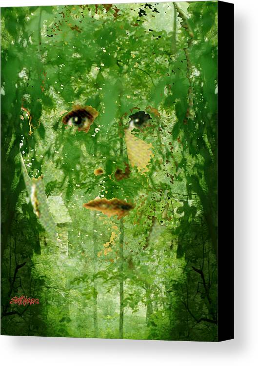 Lady Canvas Print featuring the digital art Mother Nature by Seth Weaver