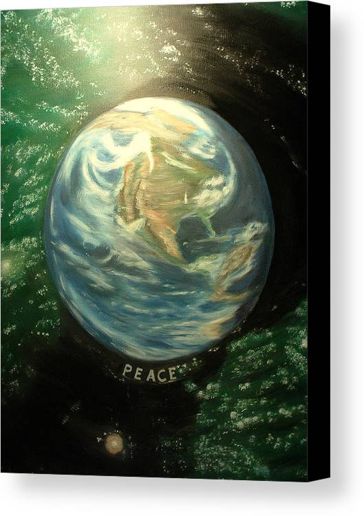 Peace Project Canvas Print featuring the painting Peace by Kenneth LePoidevin