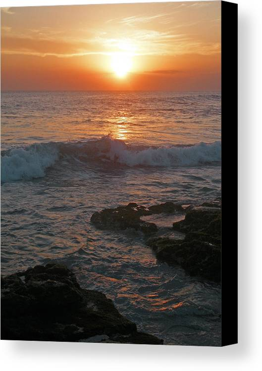 Bali Canvas Print featuring the photograph Tropical Bali Sunset by Mark Sellers