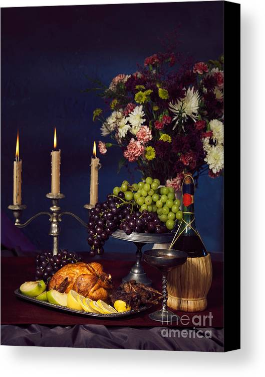 Feast Canvas Print featuring the photograph Artistic Food Still Life by Oleksiy Maksymenko