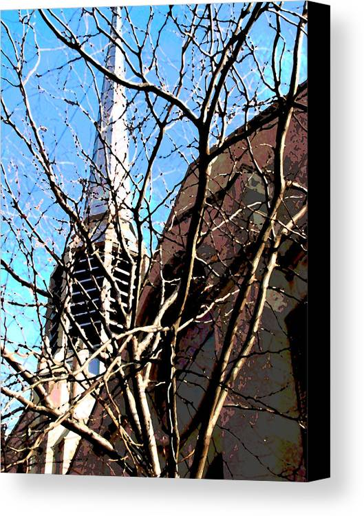 Architecture Canvas Print featuring the photograph Architecture Series by Ginger Geftakys