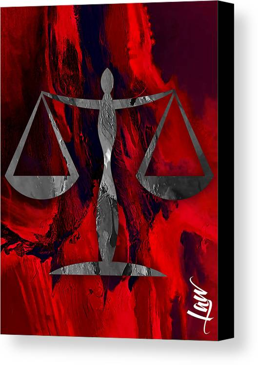 Law Canvas Print featuring the mixed media Law Office Collection by Marvin Blaine