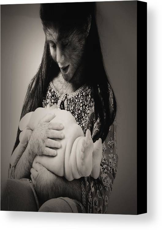 Bw Canvas Print featuring the photograph A Confortadora - Work By Patricia Piccnini by Beto Machado