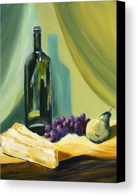 Still Life Canvas Print featuring the painting A Few Of My Favorite Things by Joe Lanni