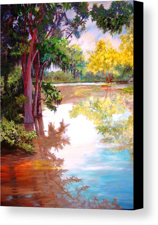 Water Canvas Print featuring the painting A Fine Day by AnnE Dentler