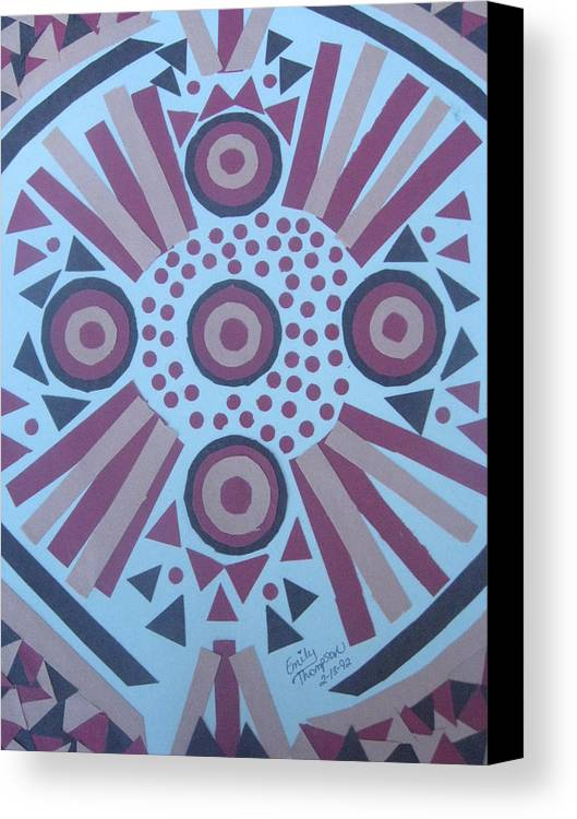 Mixed Media Shapes Canvas Print featuring the mixed media A Study Of Shapes by Emily Ruth Thompson