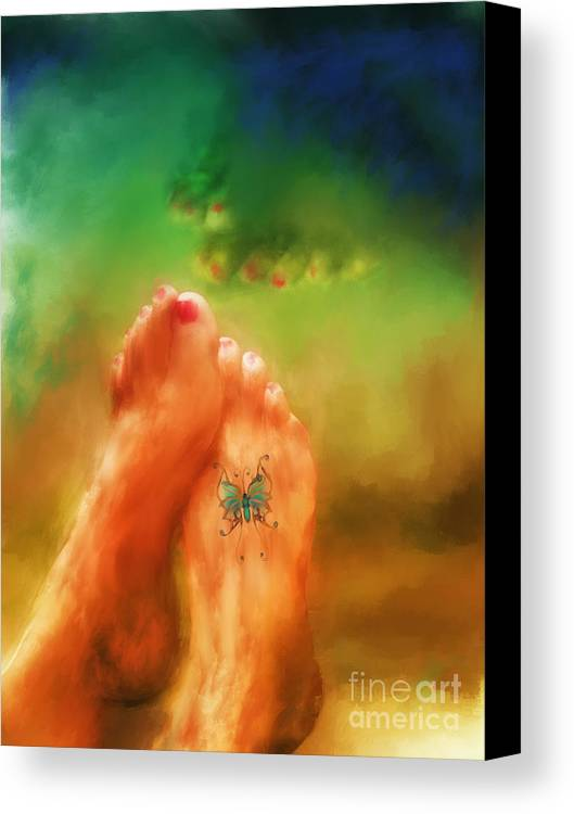 Summer Canvas Print featuring the mixed media Aah Summer by Marilyn Sholin