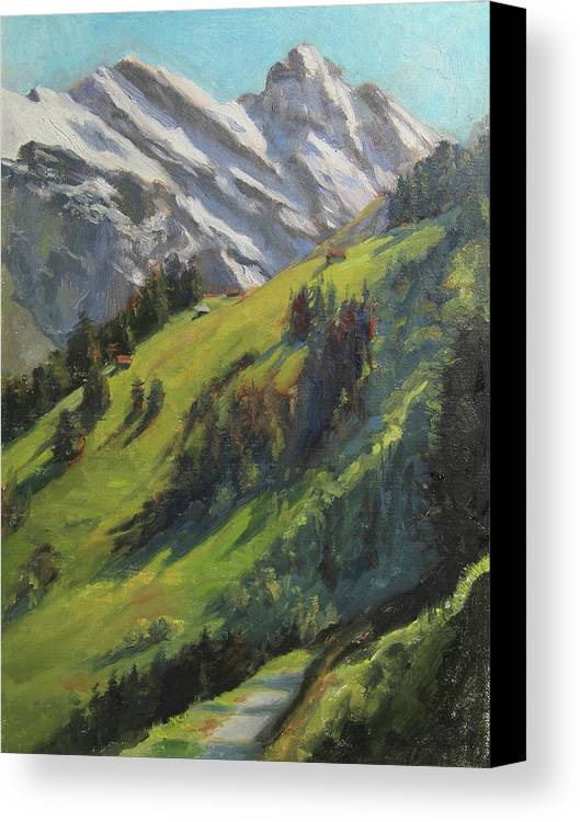 Landscape Canvas Print featuring the painting Above It All Plein Air Study by Anna Rose Bain