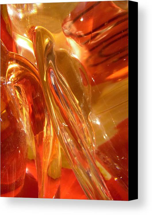 Abstract Canvas Print featuring the photograph Abstract 407 by Stephanie Moore