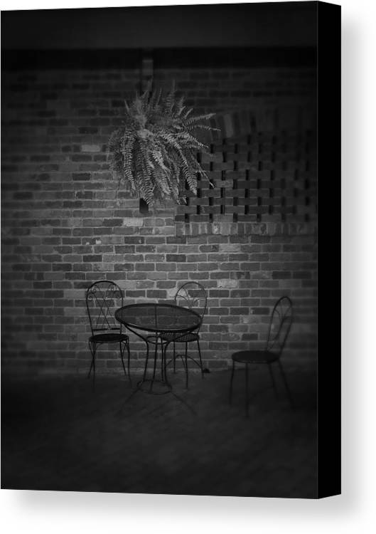 Table Canvas Print featuring the photograph After The Storm by Jessica Burgett
