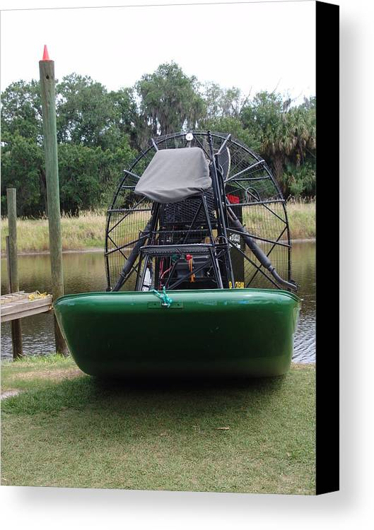 Transportation Canvas Print featuring the photograph Airboat by Florene Welebny