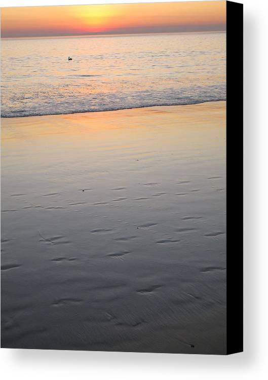 Ocean Canvas Print featuring the photograph Along The Water by John Loyd Rushing