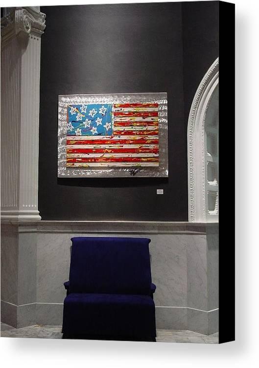 Aluminum Canvas Print featuring the sculpture America by Mac Worthington