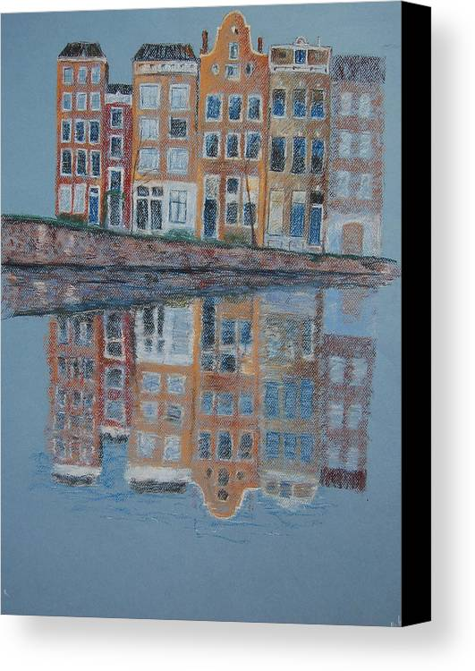 Pastel Canvas Print featuring the painting Amsterdam by Marina Garrison