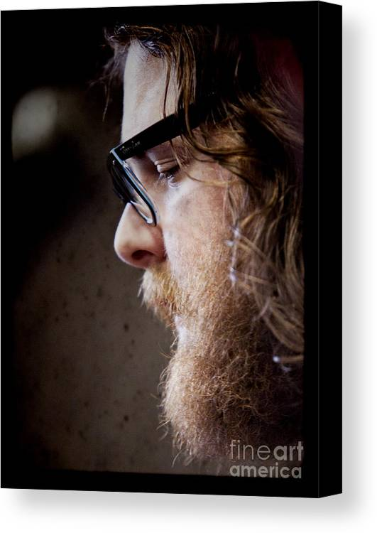 Andy Hull Canvas Print featuring the photograph Andy Hull Of Manchester Orchestra by Dustin K Ryan