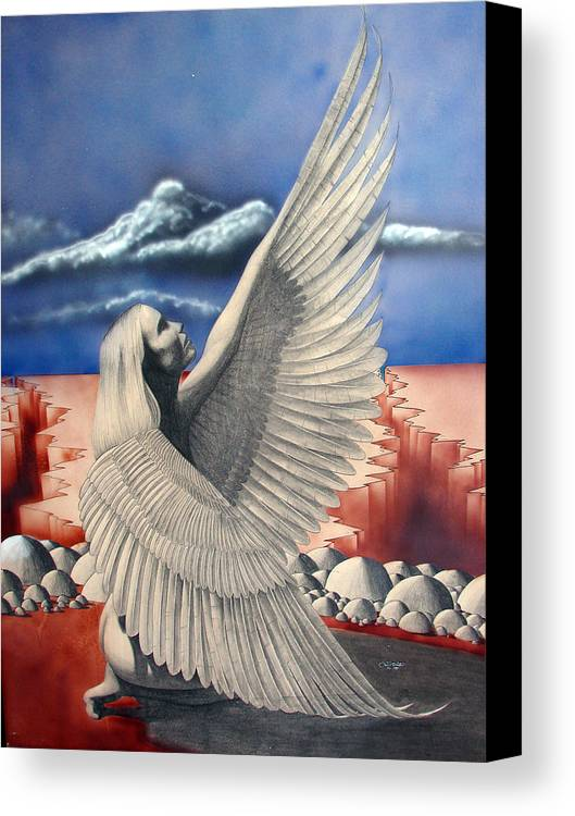Shaun Canvas Print featuring the painting Angel by Shaun McNicholas