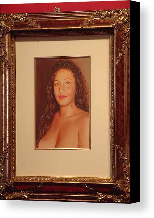 Nudes Canvas Print featuring the painting Annie 10-2 by Benito Alonso