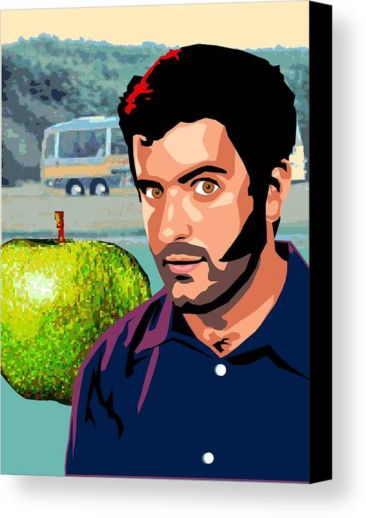 Apple Canvas Print featuring the digital art Apple Zac by Sarah Crumpler