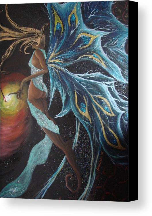 Figure Canvas Print featuring the painting Art Is Magic by Glory Fraulein Wolfe