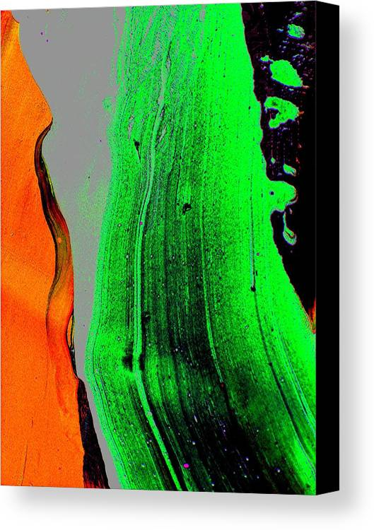 Abstract Prints Canvas Print featuring the painting Avalanche 1 by Teo Santa