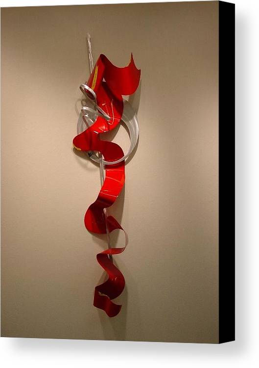Aluminum Canvas Print featuring the sculpture Away From The Soul by Mac Worthington