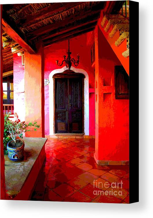 Darian Day Canvas Print featuring the photograph Back Passage By Darian Day by Mexicolors Art Photography