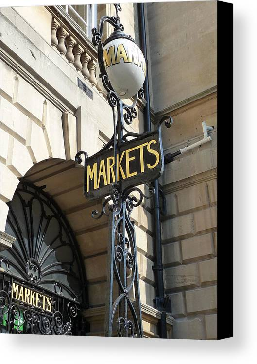 England Canvas Print featuring the photograph Bath - Market by TL Randleman