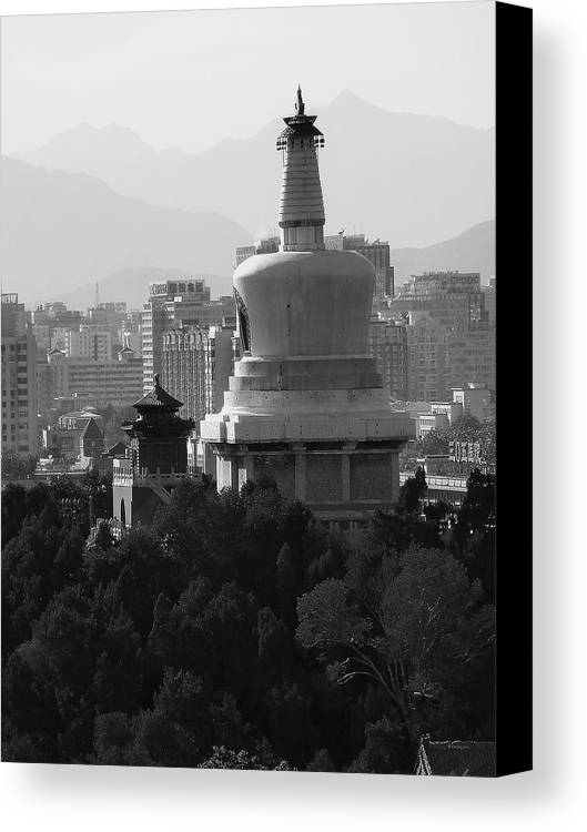 Beijing Canvas Print featuring the photograph Beijing City 3 by Xueling Zou