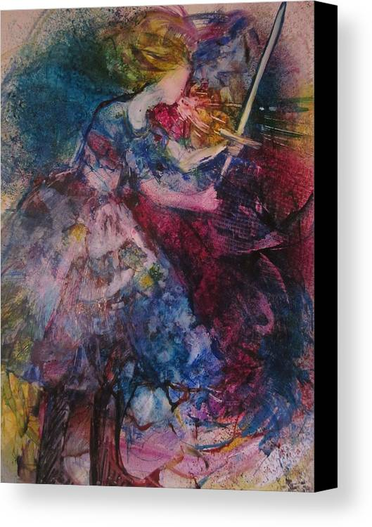 Woman Canvas Print featuring the painting Believe And Decree by Deborah Nell