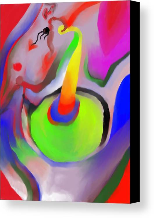 Colorful Canvas Print featuring the digital art Birthday Surprise by Peter Shor