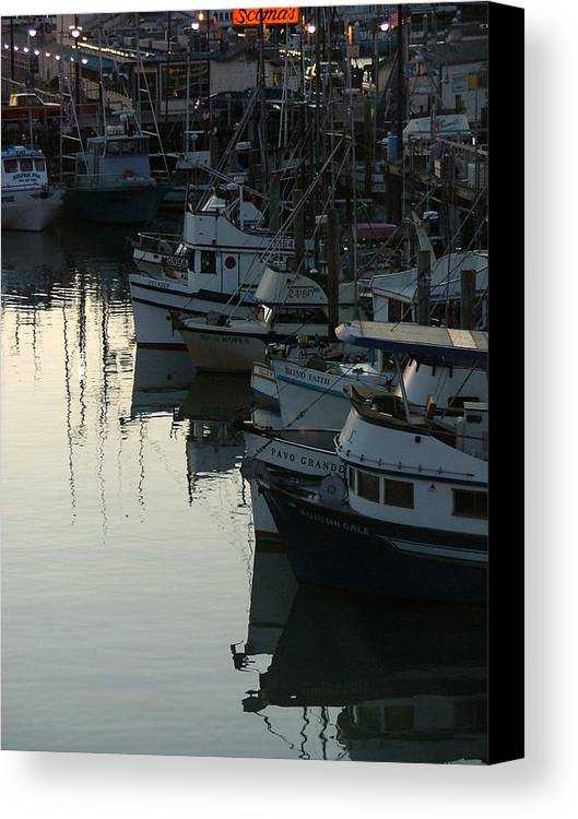Boats Canvas Print featuring the photograph Blind Faith by Donna Thomas