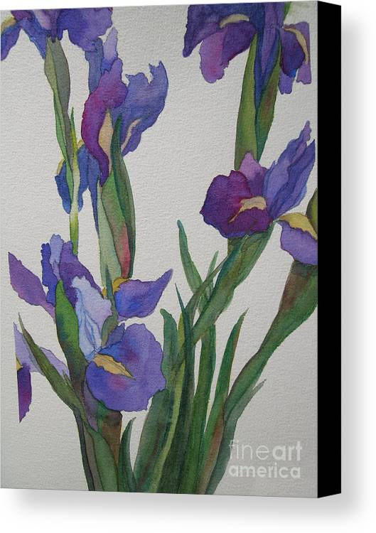 Blue Canvas Print featuring the painting Blue Iris by Jeff Friedman