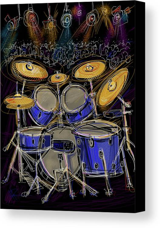Drums Canvas Print featuring the digital art Boom Crash by Russell Pierce