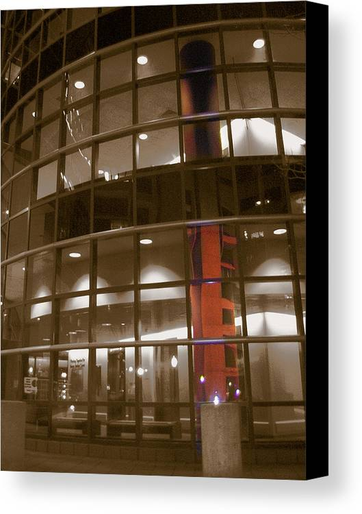 Boston Medical Center Canvas Print featuring the photograph Boston Medical Exterior by Heather Weikel