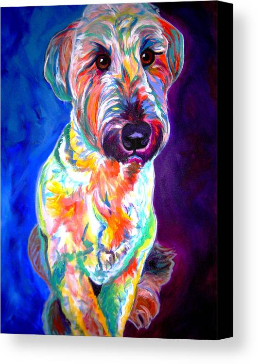 Briard Canvas Print featuring the painting Briard - Albert by Alicia VanNoy Call