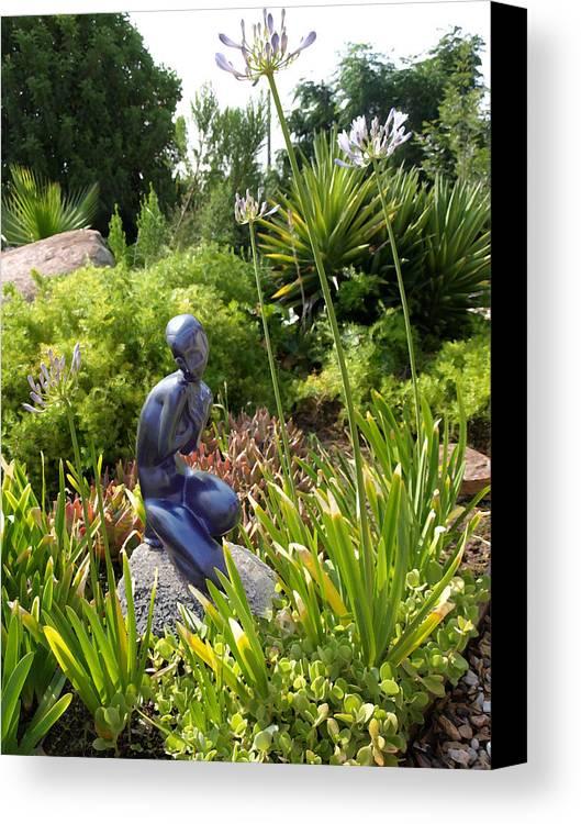 Digital Photo Canvas Print featuring the photograph California Garden by Chuck Shafer