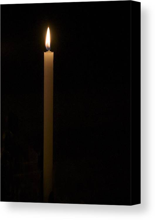Candle Canvas Print featuring the photograph Candle Light by Marion McCristall