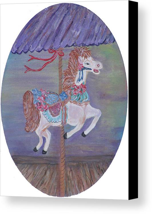 Carousel Canvas Print featuring the painting Carousel by Mikki Alhart