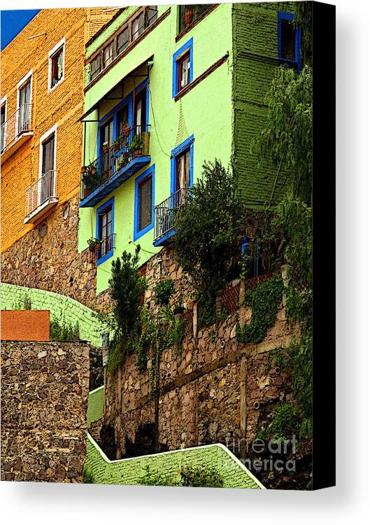 Darian Day Canvas Print featuring the photograph Casa Lima On The Hill by Mexicolors Art Photography