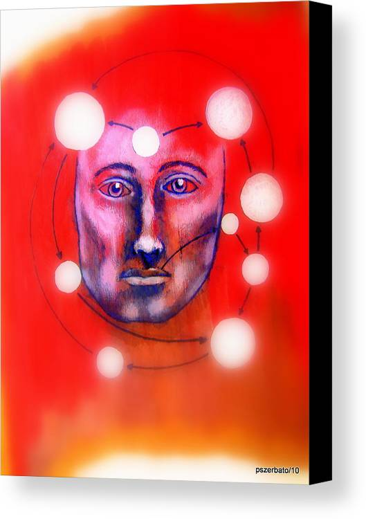 Cathartic Reaction Canvas Print featuring the digital art Cathartic Reaction by Paulo Zerbato