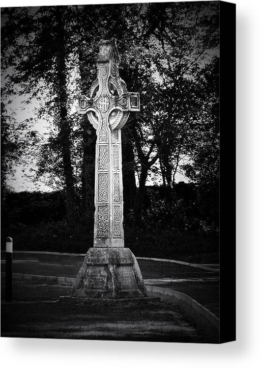 Irish Canvas Print featuring the photograph Celtic Cross In Killarney Ireland by Teresa Mucha