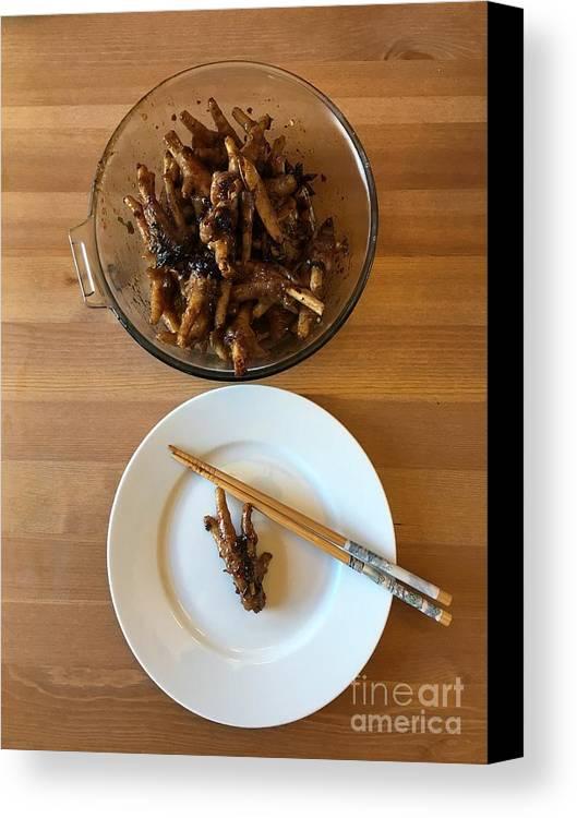 Chicken Canvas Print featuring the photograph Chinese Spicy Chicken Feet by Henrik Lehnerer